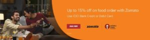 Get up to 15% off on Food Order with Zomato