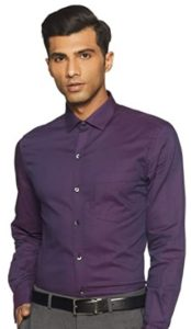 John Players Men's Solid Slim fit Formal Shirt