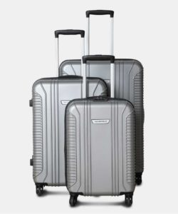 Metronaut S02-3 COMBO SET (28+24+20) Cabin & Check-in Luggage - 75 cm  (Silver) at Rs 5599