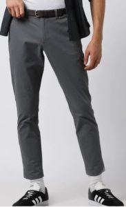 NETPLAY Flat-Front Chinos with Detachable Belt