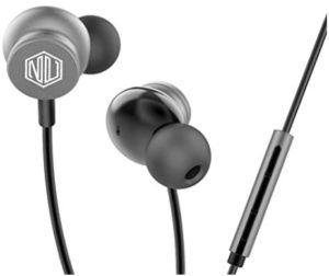Nu Republic Jaxx 10 Wired Earphone with 10mm Drivers, Deep Bass and Mic - Grey