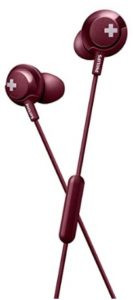 Philips Bass+ SHE4305 Headphones with Mic (Red)