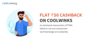 Rs 50 cashback on Coolwinks on Minimum transaction of Rs 500
