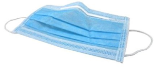 Salus Disposable Surgical Face Mask, Blue - 100 Pieces