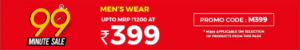 Men's wear worth Rs 1200 at Rs 399 only
