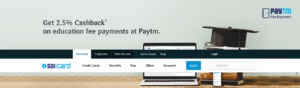 2.5% Cashback on Education Fee Payments at Paytm