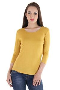 VVOGUISH Women s Regular Fit Cotton Top Rs 99 amazon dealnloot