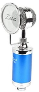 Zabel Condenser Microphone with Shock Mount and Pop Filter - Blue