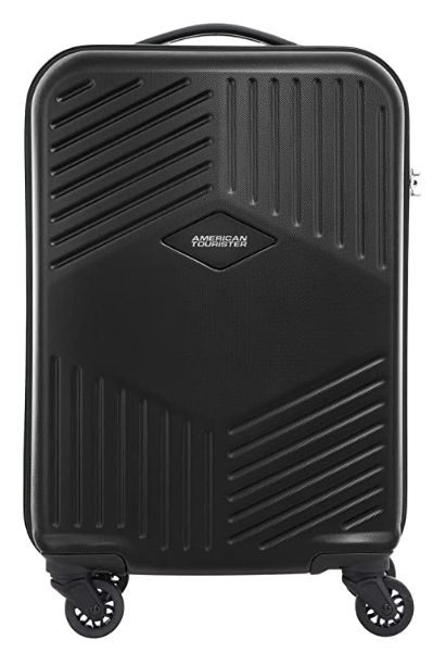 American Tourister Trillion ABS 55 cms Black Hardsided Cabin Luggage
