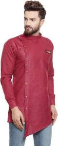 BENSTOKE Men Solid Cotton Blend Asymmetric Kurta Rs 324 flipkart dealnloot