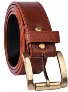 Boys Casual Brown Artificial Leather Reversible Belt