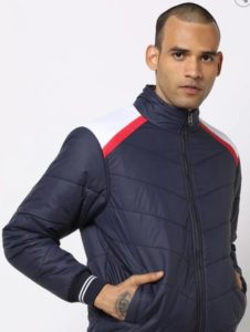 FORT COLLINS Panelled Bomber Jacket with Insert Pockets
