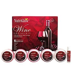 NUTRIGLOW Wine Facial Kit for blemish free Rs 399 amazon dealnloot