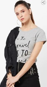 ONLY Crew-Neck T-shirt with Typography
