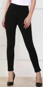 Provogue  Skinny Fit Women Black Polyester Blend Trousers