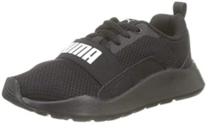 Puma Unisex-Baby Wired Ps Black Sneakers