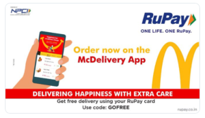 Get free delivery using Rupay Card