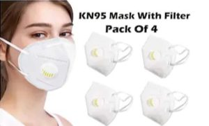ACE N KING KN95 Anti Pollution Activated Carbon Protection Face Mask With Filter ( Pack Of 4 )