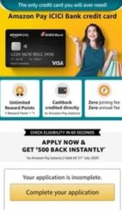 Amazon pay ICICI credit card