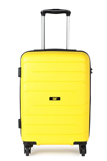 CAT Crosscheck Polypropylene 56 cms CAT Yellow Hardsided Cabin Luggage