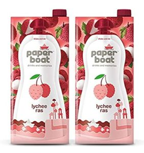 Paper Boat Fruit Juice Lychee Drink 1L Rs 110 amazon dealnloot