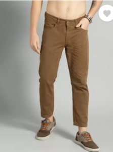 Roadster Slim Fit Men Brown Pure Cotton Trousers