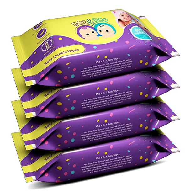Roo & Boo Baby Wet Wipes
