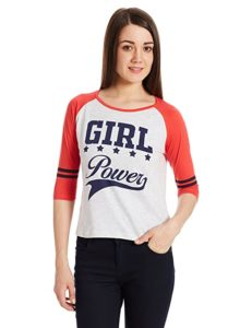 Unshackled Women s Solid T Shirt Rs 187 amazon dealnloot