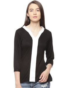 VVOGUISH Women s Regular Fit Cotton Top Rs 129 amazon dealnloot