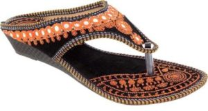Amazingly Slip on Flats For Girls Orange Rs 99 flipkart dealnloot