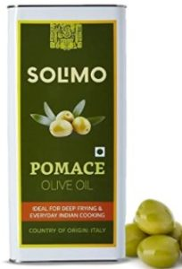 Amazon Brand - Solimo Pomace Olive Oil, 5l