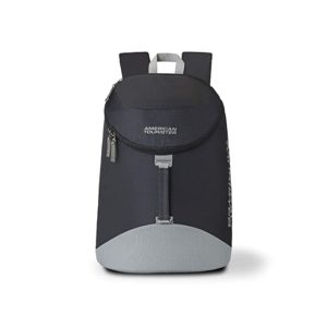 American Tourister Scamp 19 Ltrs Black Grey Rs 420 amazon dealnloot