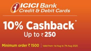 JIOMART ICICI Offer