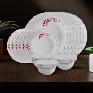 Larah by Borosil Pack of 18 Opalware Rs 978 flipkart dealnloot