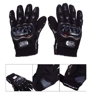Probiker Synthetic Leather Motorcycle Gloves Black XL Rs 261 amazon dealnloot