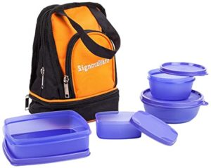 Signoraware Carry Plastic Lunch Box with Bag Rs 339 amazon dealnloot