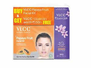 VLCC Papaya Facial Kit with v Glam Rs 150 amazon dealnloot