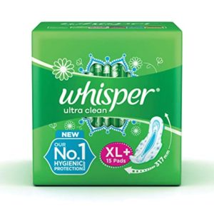 Whisper Ultra Clean Sanitary Pads for Women Rs 120 amazon dealnloot