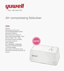 Yuwell 405A Compact Compressor Nebulizer White Rs 1021 amazon dealnloot