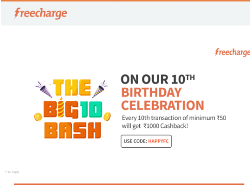 freecharge birthday