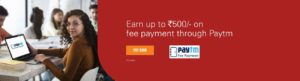 2% Cashback on Education Fee payments via Paytm Payment Gateway