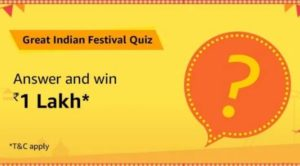 Amazon-Great-Indian-Festival-Quiz-Answers