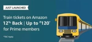 Amazon Train Ticket offer