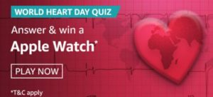 Amazon World Heart Day Quiz Answers