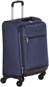 AmazonBasics 46 cm Navy Blue Softsided Cabin Rs 1453 amazon dealnloot