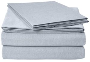AmazonBasics Chambray Bed Sheet Set - Queen, Denim Wash - with 2 pillow cases