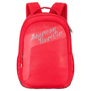 American Tourister Dazz 31 Ltrs Red Casual Rs 664 amazon dealnloot