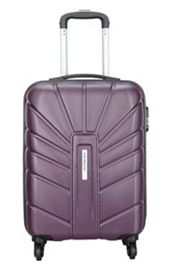 Aristocrat Polycarbonate 55 Cms Purple Hardsided Cabin Rs 1824 amazon dealnloot