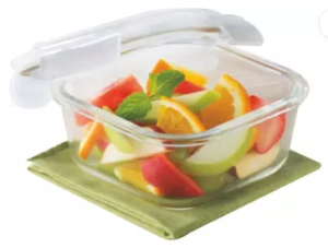 Borosil Microwavable Klip - N - Store - 320 ml Glass Grocery Container  (Clear)