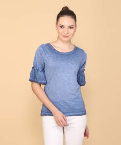 Flying Machine Casual Bell Sleeve Solid Women Rs 159 flipkart dealnloot